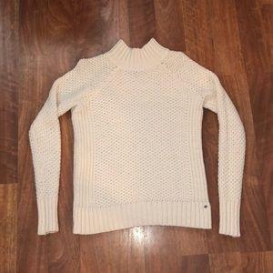 American Eagle Mock Neck Cream Sweater